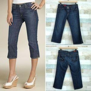 Athena Crop Jeans Dark Wash AG Adriano Goldschmied